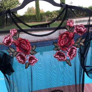 Dresses & Skirts - Black  dress with flowers